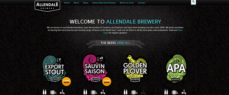 Allendale Brewery Website Launch