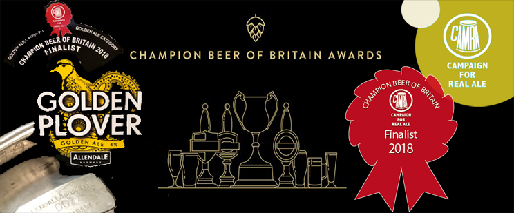 Golden Plover Champion Beer of Britain Finalist