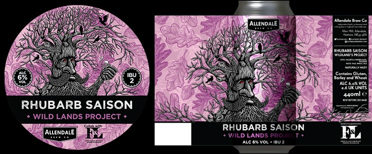 Our Rhubarb Saison is here, the first beer from our Wildland's Project